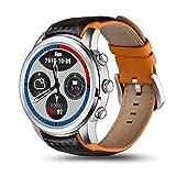 Bluetooth reloj inteligente, pulido inoxidable caso, Android 5.1, GPS, monitor de frecuencia cardiaca