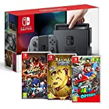 Console Nintendo Switch Gris + Rayman Legends + Sonic Forces + Super Mario Odyssey