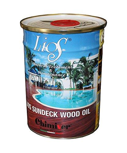 Chimiver - LIOS SUNDECK WOOD OIL | impregnante 5 Litri Versione Standard