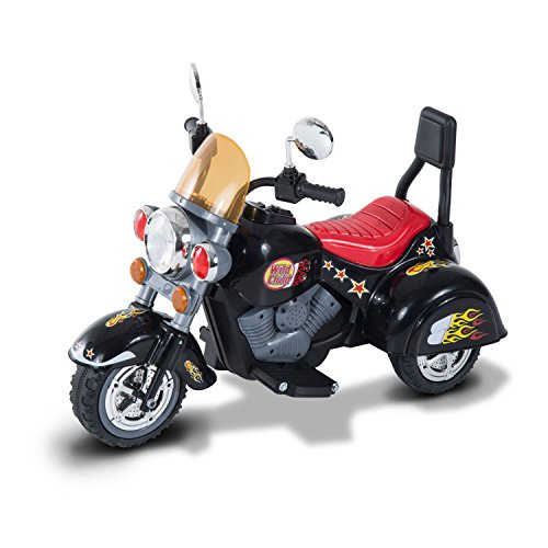 No doubt, kids will love the look of this bike. They will also enjoy long play times supported by a 6V battery powered motor. Some other impressive features include forward and reverse gears, front headlights, and sound effects. The maximum speed is also thrilling enough for kids aged 3 to 6 years. All in all, the HOMCOM Children Ride On Toy Car Kids Motorbike makes an amazing choice for younger children.