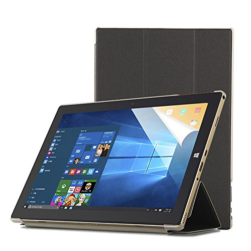 Funda Teclast P10 Octa Core Tablet Case-Slim Funda Smart Cover Transparente Durable para Teclast P10 Octa Core 10.1 Inch Tablet-Negro