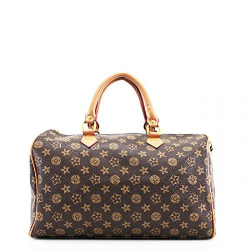 01e0f55bc46e Womens Ladies Designer Barrel Style Check Floral Hangbag Travel ...