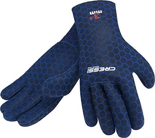Cressi High Stretch Gloves, Guanti in Neoprene 3.5 mm per Apnea e Immersioni, Unisex Adulto, Blu, M