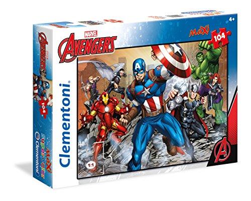 Clementoni - 23985 - Supercolor Puzzle - The Avengers, Captain America - 104 Maxi Pezzi