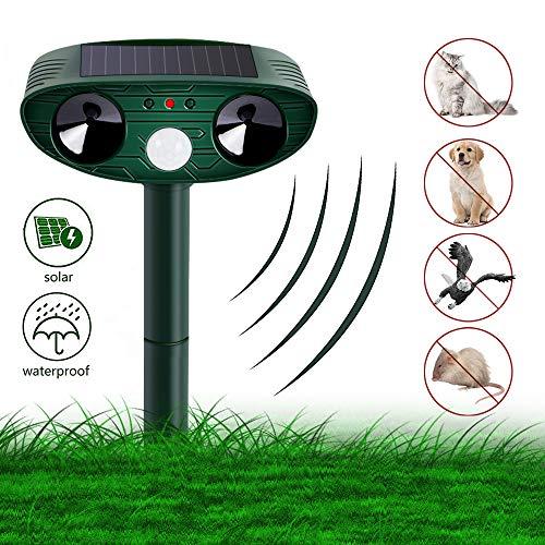 Nasharia Solar Katzenschreck Ultraschall,Tiervertreiber Repellent Cat Ultraschall -Sonnenschutzmittel Solar Batteriebetrieben, Tiervertreiber Ultraschall für Katzen, Hunde, Schädlinge, Rotwild, Mäuse