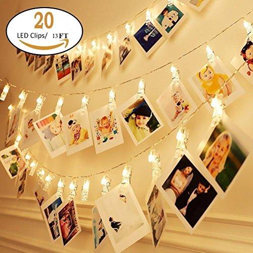 Camera bambini decorazione da parete a LED foto clip string luci perfette per sorpresa ufficio...