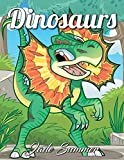 Dinosaurs: An Adult Coloring Book with Fun Cartoon Dinosaurs, Cute Jungle Animals, and Easy Nature Scenes for Relaxation