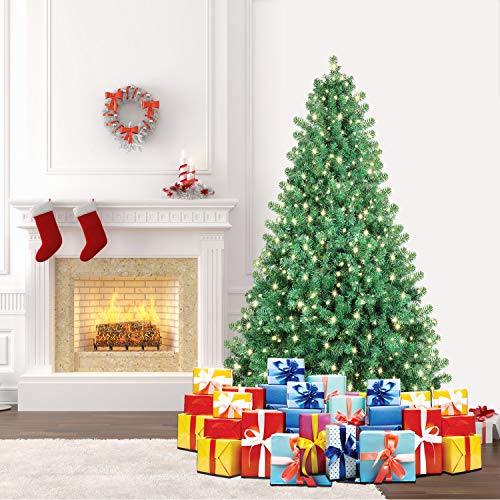 SHareconn Albero di Natale Artificiale Pino (198 cm with LED Lights)