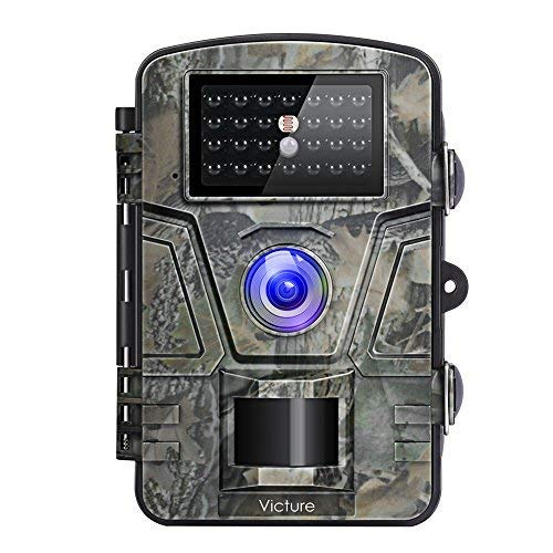 """Victure Wildkamera Nachtsicht Bewegungsmelder Jagdkamera 12MP 1080P 2.4\"""" LCD Wasserdicht Wildtierkamera für Überwachung"""