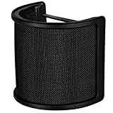 Mikrofon Mic Pop Filter mit Schaumschicht Windschutzscheibe Windschild Windschutz für Studio