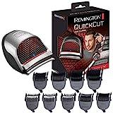 Remington QuickCut HC4250 - Máquina de Cortar Pelo, Cortadora de Pelo con Cable o Inalámbrica, Gris, 9 Peines Guía