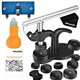 Paxcoo 17Pcs Watch Press Tool with Watch Battery Replacement Tool kit and Fitting Dies for Watch Back Remover Closer Repair and Battery Changing (Instruction Included)