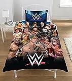 WWE Legends Set Copripiumino in Percalle di Puro Cotone, 50/50 percento Poliestere, Singolo, 135 x 200 cm