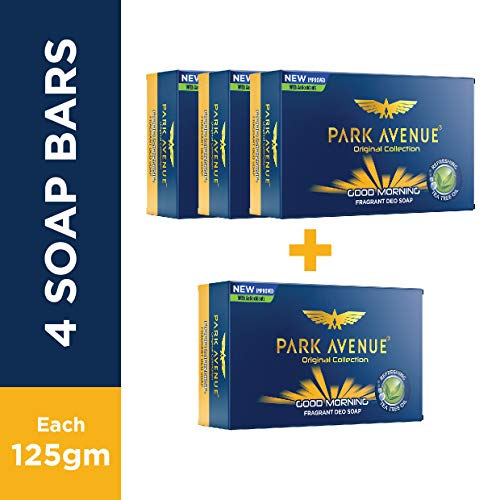 Park Avenue Good Morning Soap For Men, 125g (BUY 3 GET 1 FREE)