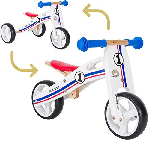 BIKESTAR Corsa Bici Senza Pedali in Legno per Bambini età 18Mesi | 17,8cm Convertible Mini...