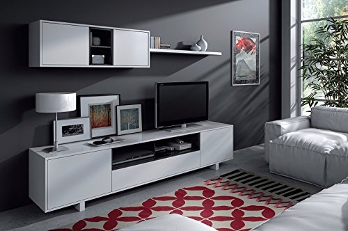 Habitdesign - Mueble de salón moderno, modulos comedor Belus ...