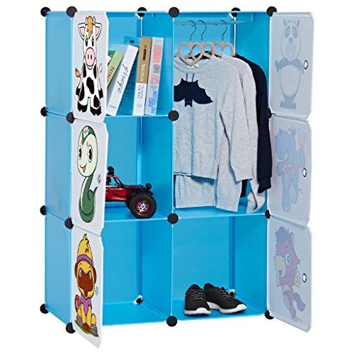 LANGRIA 6-Cubo Armadio Modulare Bambini per la Sistemazione di Stoccaggio Extra Large con...
