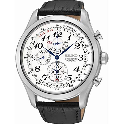 Seiko Orologio Cronografo Quarzo Uomo con Cinturino in Pelle SPC131P1