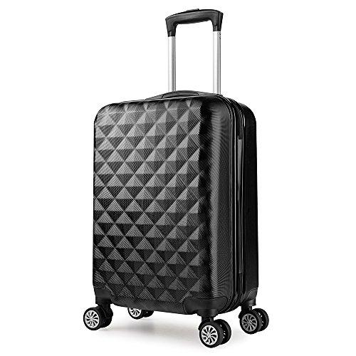 Trolley valigia 55cm bagaglio a mano ABS 40L 2.4kg super leggera 7 ruote rigida ¡