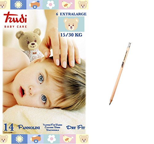 IRPot - 6 PACCHI PANNOLINI TRUDI BABY CARE DRY FIT (TG.6 EXTRALARGE 15-30 KG)