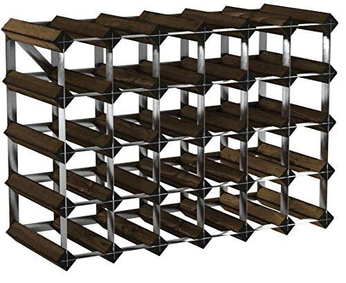 Cranville wine racks Classica cantinetta per 30 Bottiglie di Vino (6 x 4), Realizzata in Robusto...