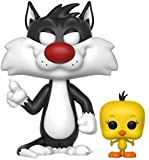 FunKo Pop Looney Tunes Sylvester & Tweety Figurine, 21975, Multicolore, Standard