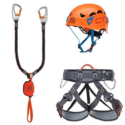 Climbing Technology Kit Ferrata Plus Galaxy-Top Shell Slider-Explorer TG.M-L Kit Ferrata, Colores Surtidos, M-L
