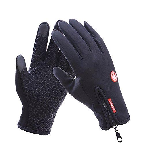Guanti, Guanti moto Invernali,LaiXin Impermeabile Guanti Touch Screen Waterproof per Ciclismo,...