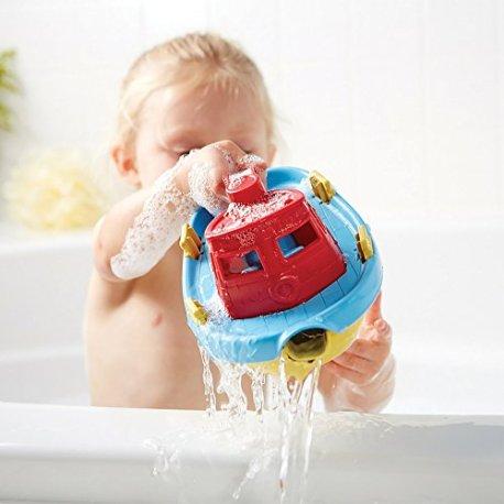 Green-Toys-66018-Vhicule-Miniature-Modle-Simple-Remorqueur-Avec-Pont-Bleu