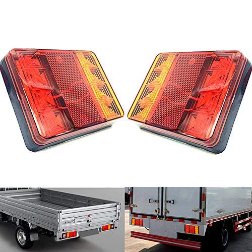 Qiorange 2x rotonda lente 24LED riflettori luci di coda freno segnali luminosi per auto camion...