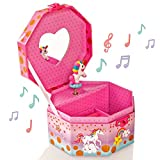 Style Girlz Unicorn Musical Jewellery Box & Heart Lock   Contenitore per bambine Keepsake