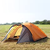 North Gear Camping Mars Waterproof 4 Man Dome Tent Orange