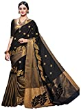 Vivera Cotton Silk Saree (Vraugusty_Black25_Black)