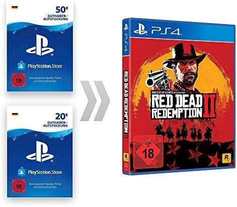 PSN Guthaben-Aufladung für Red Dead Redemption 2 | PS4 Download Code - deutsches Konto