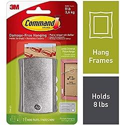 Command 17048 Clavo metálico para Colgar Cuadros (Alambre), Grandes