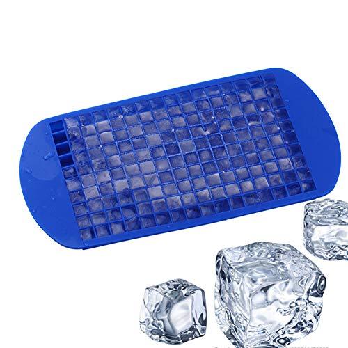 Aufell (set da 2) 160 stampi per cubetti di ghiaccio, forma quadrata, in silicone, mini cubetti di...
