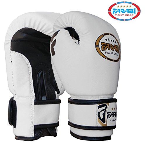 Farabi Guanti da boxe, peso 113,4gram, Junior MMA, Muay Thai kickboxing guanti da box training...