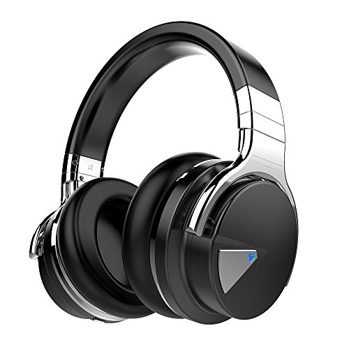 COWIN E7Active Noise Cancelling Bluetooth Auriculares Over Ear Wireless Headphones con micrófono, de 30horas de tiempo de Juego, Color negro