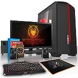 Fierce TERRA 16 PC Gamer - Vite 2 x 3.9GHz Dual-Core AMD A-Series 6300, 1To Disque Dur, 16Go of 1600MHz DDR3 RAM / Mémoire, AMD Radeon HD Graphiques Intégrés, Gigabyte F2A78M-HD2 Carte Mère, GameMax Centauri Noir Boite D'ordinateur/Bleu Fans, HDMI, USB3, Wi - Fi, Entrée parfaite dans les jeux PC, Windows 10 installé, 3 Ans De Garantie 222036