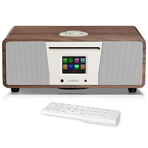 LEMEGA M4 + All-in-One Smart Music System (2.1 stereo) con CD, Wi-Fi, radio Internet, Spotify,...