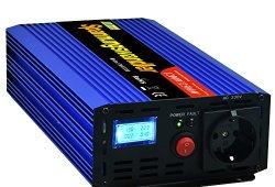 Onduleur 1200 2500W convertisseur de tension 12V 230V onde sinusoïdale modifiée LCD Offre de prix