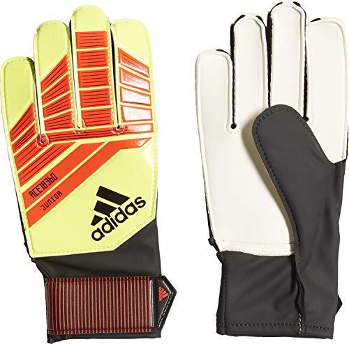 Adidas Predator Junior, Guanti da portiere, Unisex bambini, rosso / nero (rojsol/amasol), 5