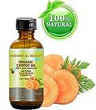Carota olio biologico 100% naturale/Botanical/pressato a freddo 4fl. oz. -120ml. Per viso, corpo, capelli e unghie by Botanical beauty