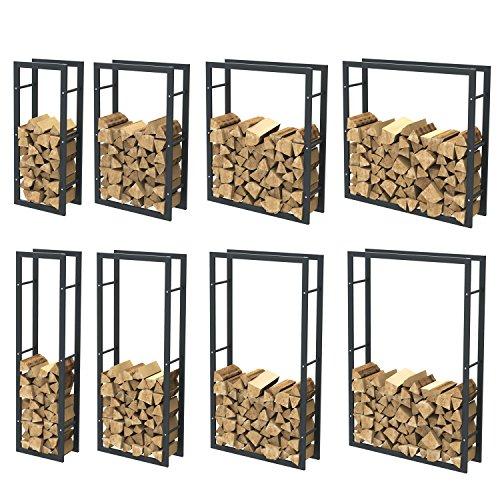 Kaminholzregal Brennholzregal Feuerholzregal Kaminholzständer Kaminholzhalter Brennholz 34000
