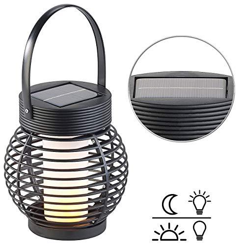 Lunartec Windlicht-Laternen: Solar-Gartenlaterne mit 51 Flammeneffekt-LEDs & Dämmerungssensor, IP44 (Gartenlaterne Windlicht)