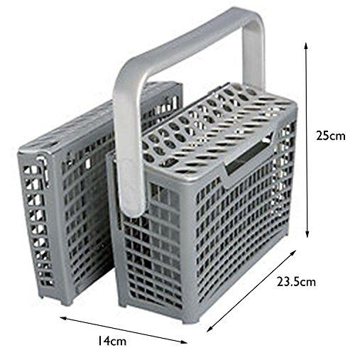 Spares2go Universale lavastoviglie posate cestino con design staccabile (14cm x 23.5cm x 25cm)