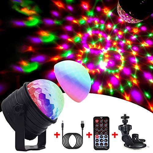 Luci Discoteca LED, Emooqi Luci Discoteca Lampada da Palco USB alimentato Con 6 Modalità Colore +...