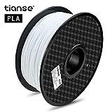 TIANSE Imprimante 3D Filament PLA 1.75mm 1KG, Fièvre, Blanc