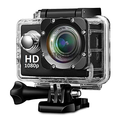 Teconica WS-6000 Sports Action 1080p Waterproof Camera with Micro Sd Card Slot and Multi Language Action Video Waterproof 12MP Camera 2''inch LCD Super Wide Angle Camera {Random Colour}