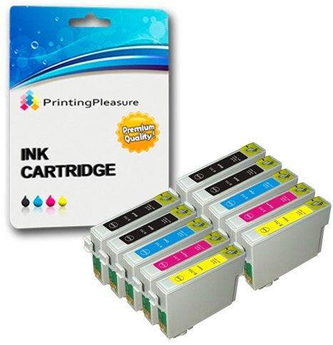 10 Cartucce d'inchiostro compatibili per Epson Stylus S20 S21 SX100 SX105 SX110 SX115 SX200 SX205...